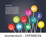social media icons design | Shutterstock .eps vector #249588256
