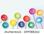 social media symbols with... | Shutterstock .eps vector #249588262