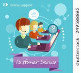 customer service representative ... | Shutterstock .eps vector #249588862