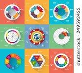 set of infographics vector... | Shutterstock .eps vector #249592432