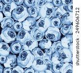 painted flower seamless pattern ... | Shutterstock .eps vector #249606712