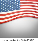 closeup of american flag on... | Shutterstock . vector #249619936