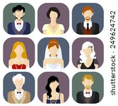 different people in formal... | Shutterstock .eps vector #249624742