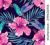 beautiful seamless floral... | Shutterstock .eps vector #249626506