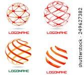 sphere abstract vector logo... | Shutterstock .eps vector #249627382