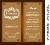 restaurant menu design. vector... | Shutterstock .eps vector #249628462
