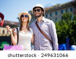 couple doing shopping in a... | Shutterstock . vector #249631066