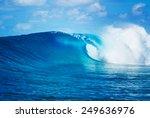 blue ocean wave  epic surf | Shutterstock . vector #249636976