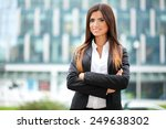 friendly young female manager... | Shutterstock . vector #249638302