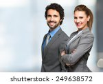 portrait of smiling business... | Shutterstock . vector #249638572