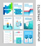 templates. set of web  mail ... | Shutterstock .eps vector #249638752