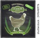 farm fresh market chalkboard... | Shutterstock .eps vector #249648976