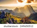 Raylight Sunset Landscape At...