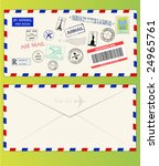 Air Mail Envelope With Postal...