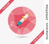 syringe flat icon with long... | Shutterstock .eps vector #249659266