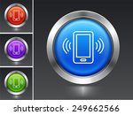smartphoneon color round buttons | Shutterstock .eps vector #249662566
