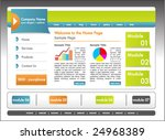 cool and clean website template.... | Shutterstock .eps vector #24968389