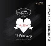 vector of happy valentine     ... | Shutterstock .eps vector #249691348