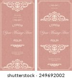 set of antique greeting cards ... | Shutterstock .eps vector #249692002