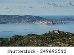 the bay of calvi with blue... | Shutterstock . vector #249692512