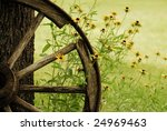 An Abstract Of A Wagon Wheel...