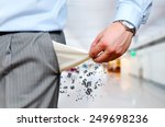 man pulling out empty pockets | Shutterstock . vector #249698236