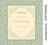 vintage invitation card with... | Shutterstock .eps vector #249700066