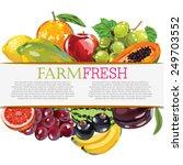 assorted fruits | Shutterstock .eps vector #249703552