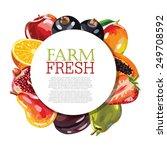 assorted fruits | Shutterstock .eps vector #249708592