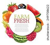 assorted fruits | Shutterstock .eps vector #249708622
