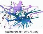 splashes of ink on white   some ... | Shutterstock . vector #24971035