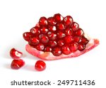 Ripe Red Pomegranate Slice...