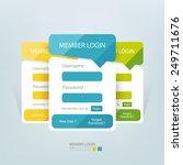 flat login member form. | Shutterstock .eps vector #249711676