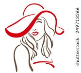 fashion sketch of stylish woman ... | Shutterstock .eps vector #249713266