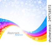 abstract rainbow background.... | Shutterstock .eps vector #249718372