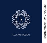 stylish and elegant monogram... | Shutterstock .eps vector #249722032