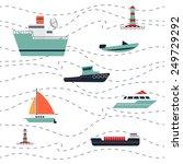 pattern ships range. includes... | Shutterstock .eps vector #249729292