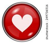 heart icon. internet button on... | Shutterstock .eps vector #249736516
