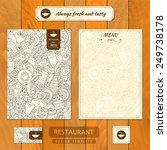 corporate identity. menu and... | Shutterstock .eps vector #249738178