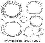 vector floral frames... | Shutterstock .eps vector #249741832