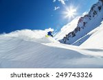 male skier on downhill free... | Shutterstock . vector #249743326