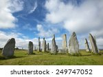 prehistoric site with menhirs... | Shutterstock . vector #249747052