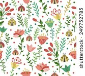 floral seamless pattern with... | Shutterstock .eps vector #249752785