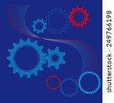 background for technical design ... | Shutterstock .eps vector #249766198