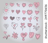 hand drawn hearts set. | Shutterstock .eps vector #249770656