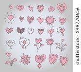 hand drawn hearts set. | Shutterstock .eps vector #249770656