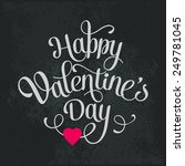 vector happy valentines day... | Shutterstock .eps vector #249781045