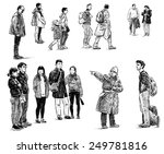 casual townspeople | Shutterstock . vector #249781816