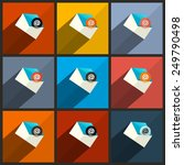 flat design ui email icons set