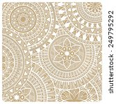 vector  hand drawn doodle lacy... | Shutterstock .eps vector #249795292